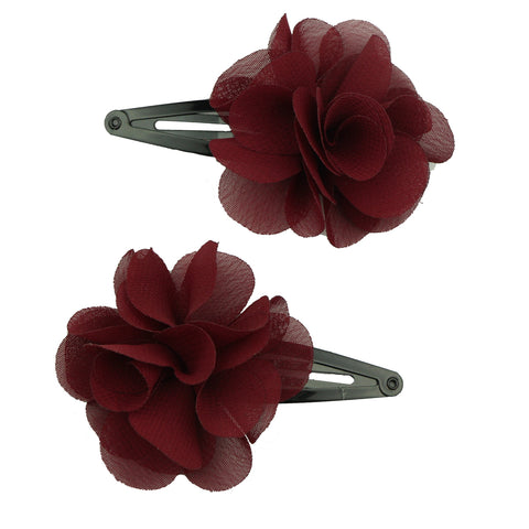 chiffon frayed flower snap hair clip toddler girl hair grip piggy tail toddler hair clips7646