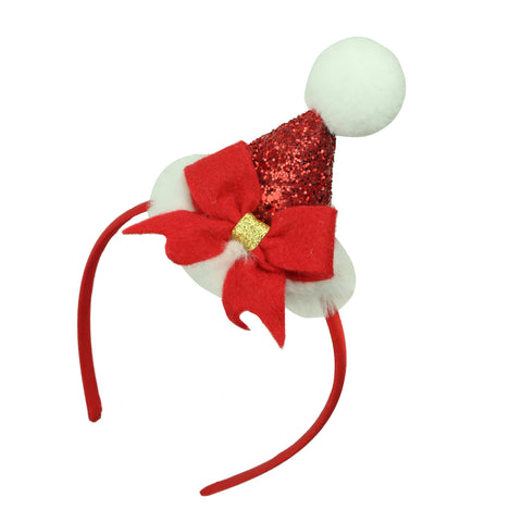 christmas hat hairband with ribbon bow 8142 - SOHOBUCKS CO.,LIMITED