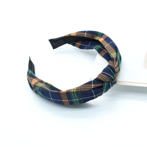cloth knot alice band,fashion twist knot alice band,women wide hairband with knot detail88073