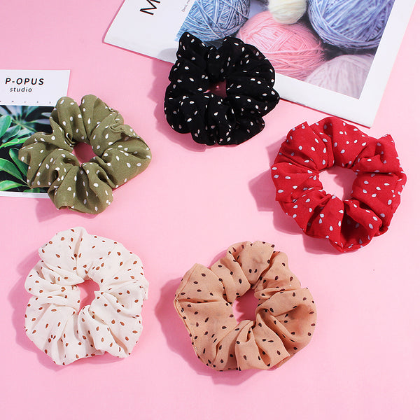 colored scrunchies hair holder for women