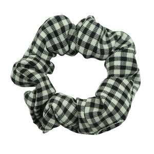 cotton hair scrunchies custom  gingham scrunchies wholesale  5594 - SOHOBUCKS CO.,LIMITED