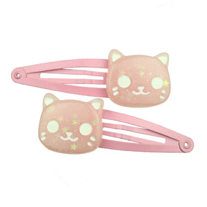 custom poly resin animal head cat hair clip eco friendly girl hair barrette 7700 - SOHOBUCKS CO.,LIMITED