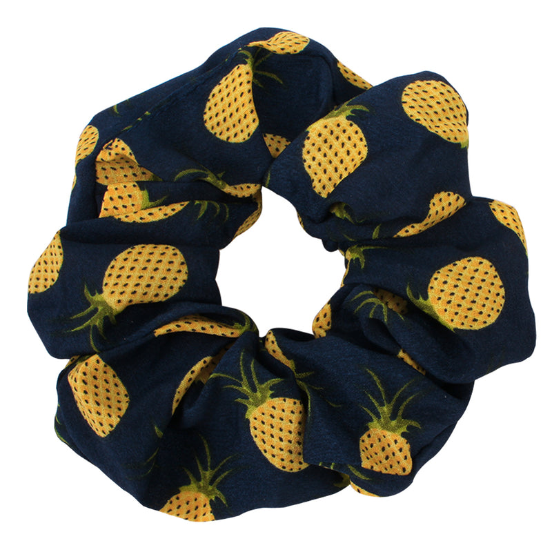 custom print fruit scrunchies,private label pineapple hair scrunchies90808