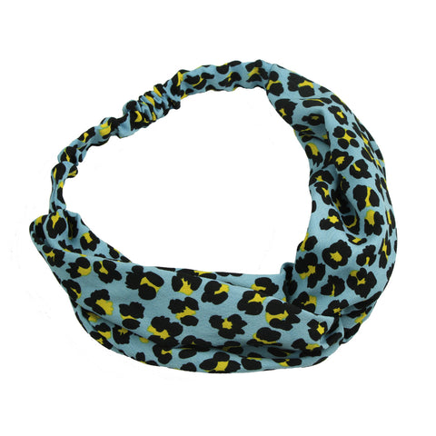 custom print leopard print knotted headband private label cross hair headband 6993
