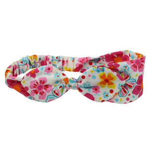 custom printed wholesale private label cotton bow bandana headbands for adult women from new look supplier 0690 - SOHOBUCKS CO.,LIMITED