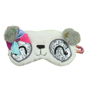 custom private label pompom fluffy eye mask cute dog eye shade sleep accessory eye patch for sleeping7898 - SOHOBUCKS CO.,LIMITED