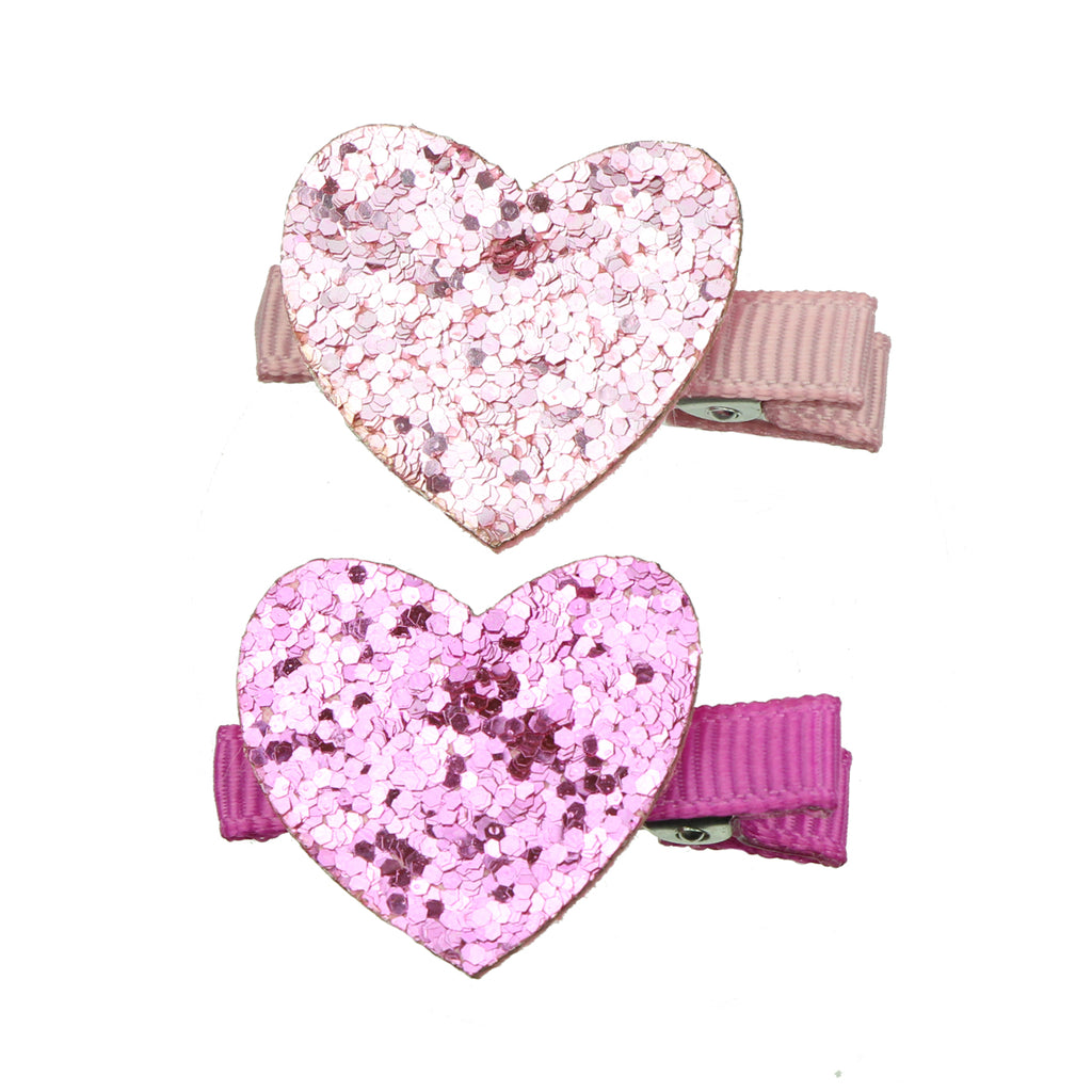 eco friendly custom faux suede leather pink love heart grosgrain lined girl hair clip wholesale at factory price7613