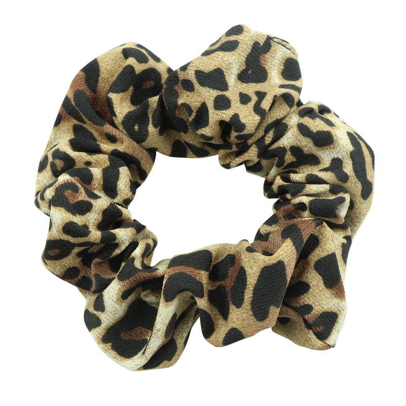 eco friendly leopard print hair scrunchies chiffon hair scrunchies custom private label  5541