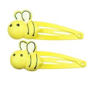 eco friendly poly resin yellow bumbl bee hair clip baby girl hair accessory set  7716 - SOHOBUCKS CO.,LIMITED