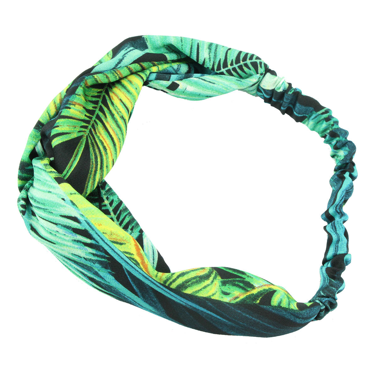 fabric custom print bandana Hawaii cross hairband wreath women twist headband wholesale at factory price 6766 - SOHOBUCKS CO.,LIMITED