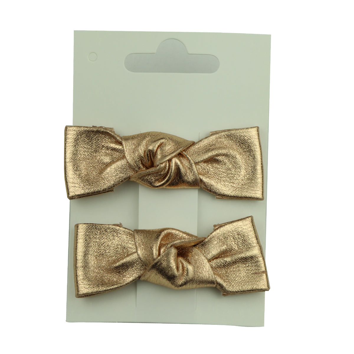 fashion fancy artificial suede faux rose gold leather bow hair clip for teenage girls 5836 - SOHOBUCKS CO.,LIMITED