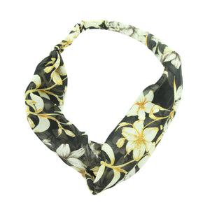 floral head wrap womens bandana cross headband twist hair head wrap 6717
