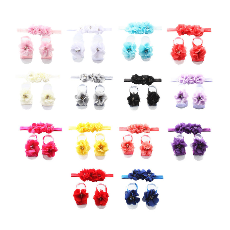 fray chiffon flower rhinestone stone pears centerpiece no crease hair tie elastic headband assorted color 7991