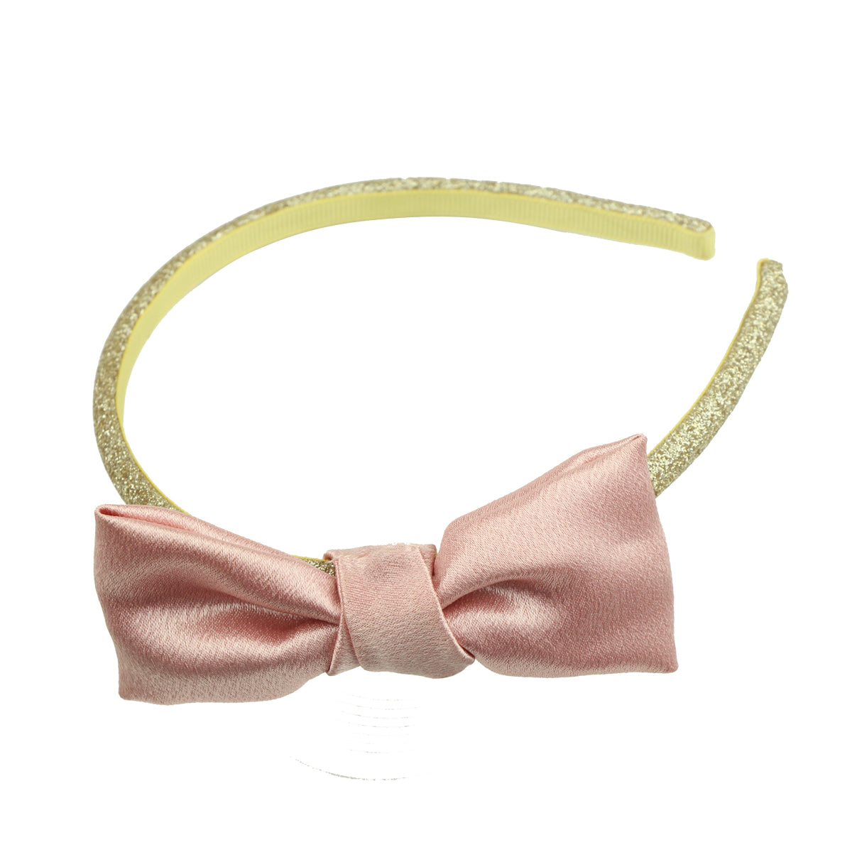 garment satin ribbon bow hair headband vintage stylish quality girl hair bow accessory 6153