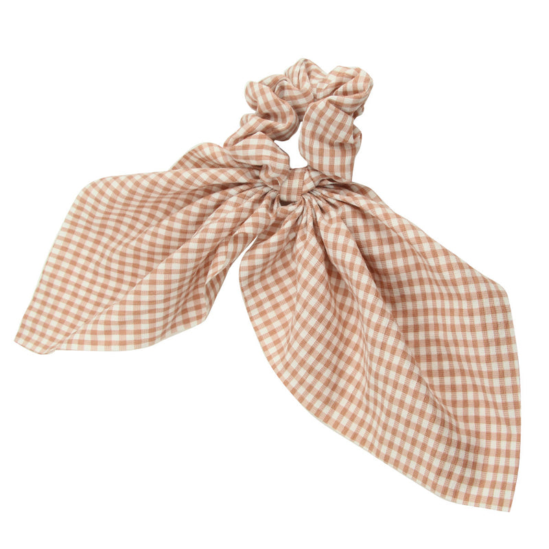 gingham cotton hair scarf scrunchies7179 - SOHOBUCKS CO.,LIMITED