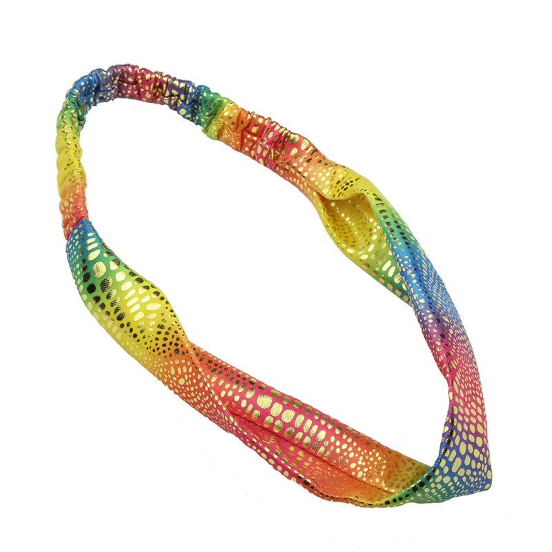 gold iron on wide fabric headband,rainbow fabric headband teenage,custom hair wraps7788 - SOHOBUCKS CO.,LIMITED