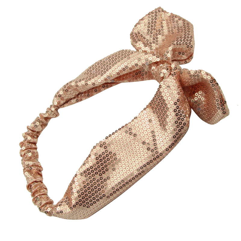 gold sequin bow headband,stretch sequin headband wholesale,sequin glitter headband7790