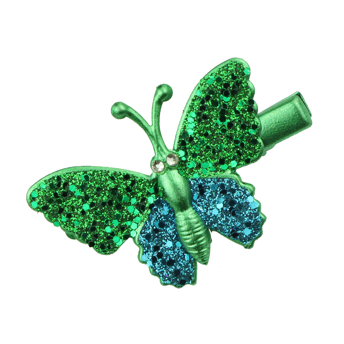 green gold rhinestone glitter butterfly alligator hair clip barrettes hair grips girl hair accessories at factory price 6489 - SOHOBUCKS CO.,LIMITED