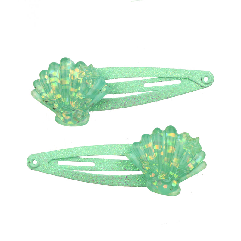 green poly resin clam shell hair clip wholesale hair shell clips at factory price 7710