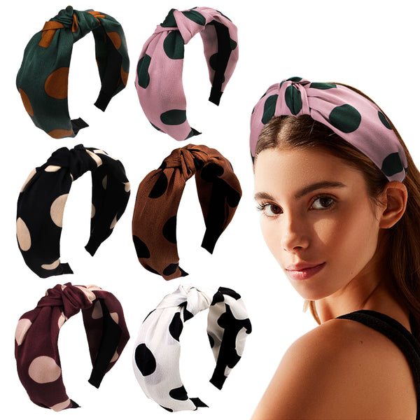 Women Polka Dot Bowknot Headband Hair Head Hoop Hair Accessories for Girls
