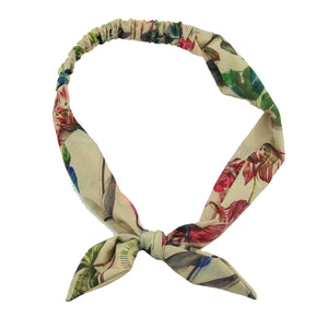 headband bow for women custom print bandana floral big bow headband 6741 - SOHOBUCKS CO.,LIMITED