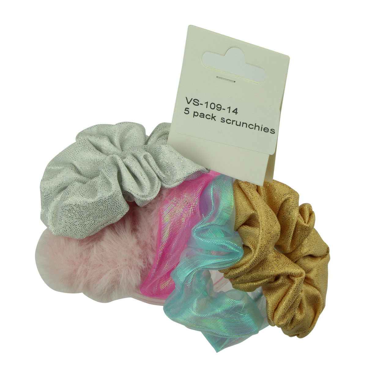 holographic hair scrunchies 5 pack hair scrunchies mermaid scrunchies furry hair scrunchies 6615 - SOHOBUCKS CO.,LIMITED