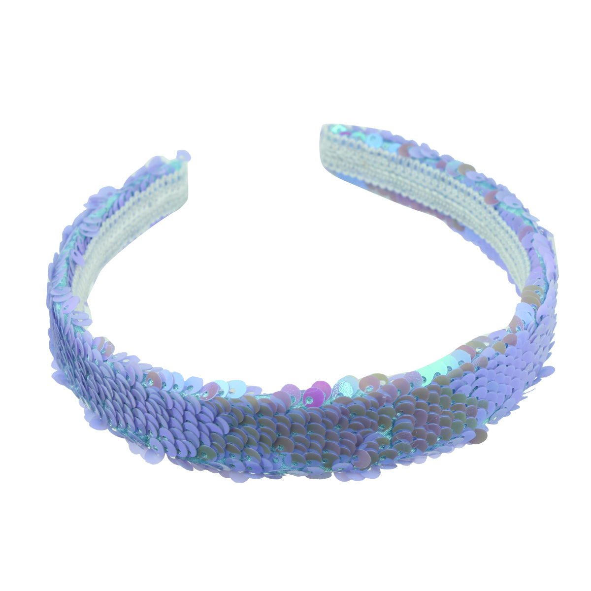 holographic revisable mermaid sequin covered 2.5cm Alice hairband girl head piece hair hoops 6643 - SOHOBUCKS CO.,LIMITED