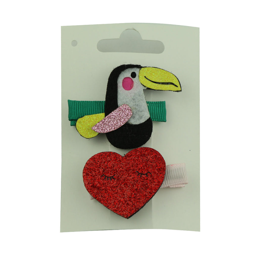 laser cut felt penguin grosgrain covered hair clip faux suede leather heart smile face hairgrip clip wholesale at factory price 5735 - SOHOBUCKS CO.,LIMITED