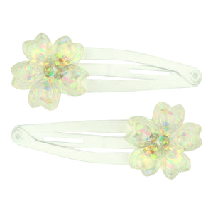 latest hair accessory poly resin white AB flower hair clip set hair jewelry accessory7720 - SOHOBUCKS CO.,LIMITED