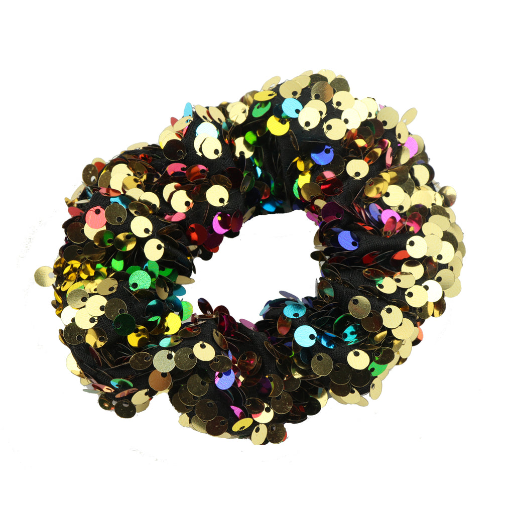 mermaid revisable sequin colorful glitter hair scrunchies fabric ponytail holder6116