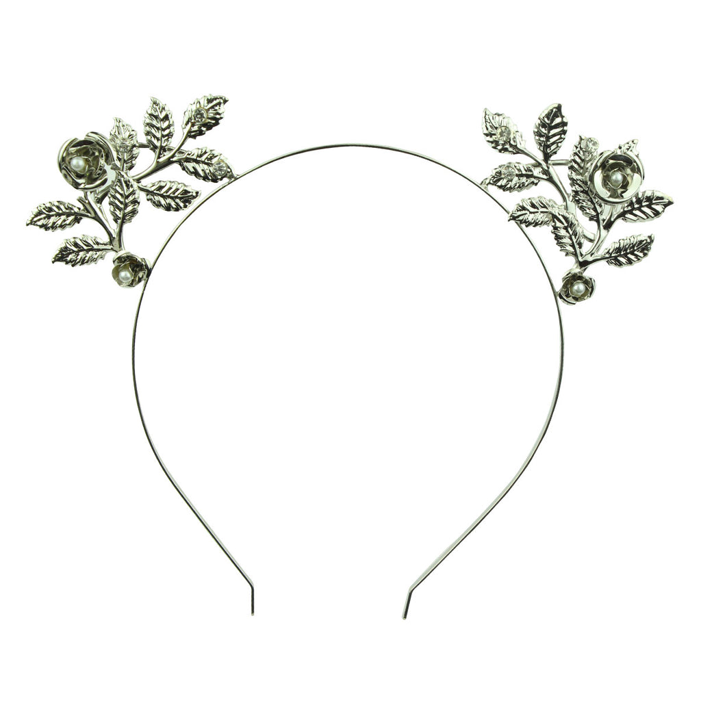 metal leaves pear 5mm silver metal hairband headband girl hair accessory wholesale at factory price 6965 - SOHOBUCKS CO.,LIMITED