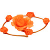neon Orange artificial silk flower rose swirl headbands0551