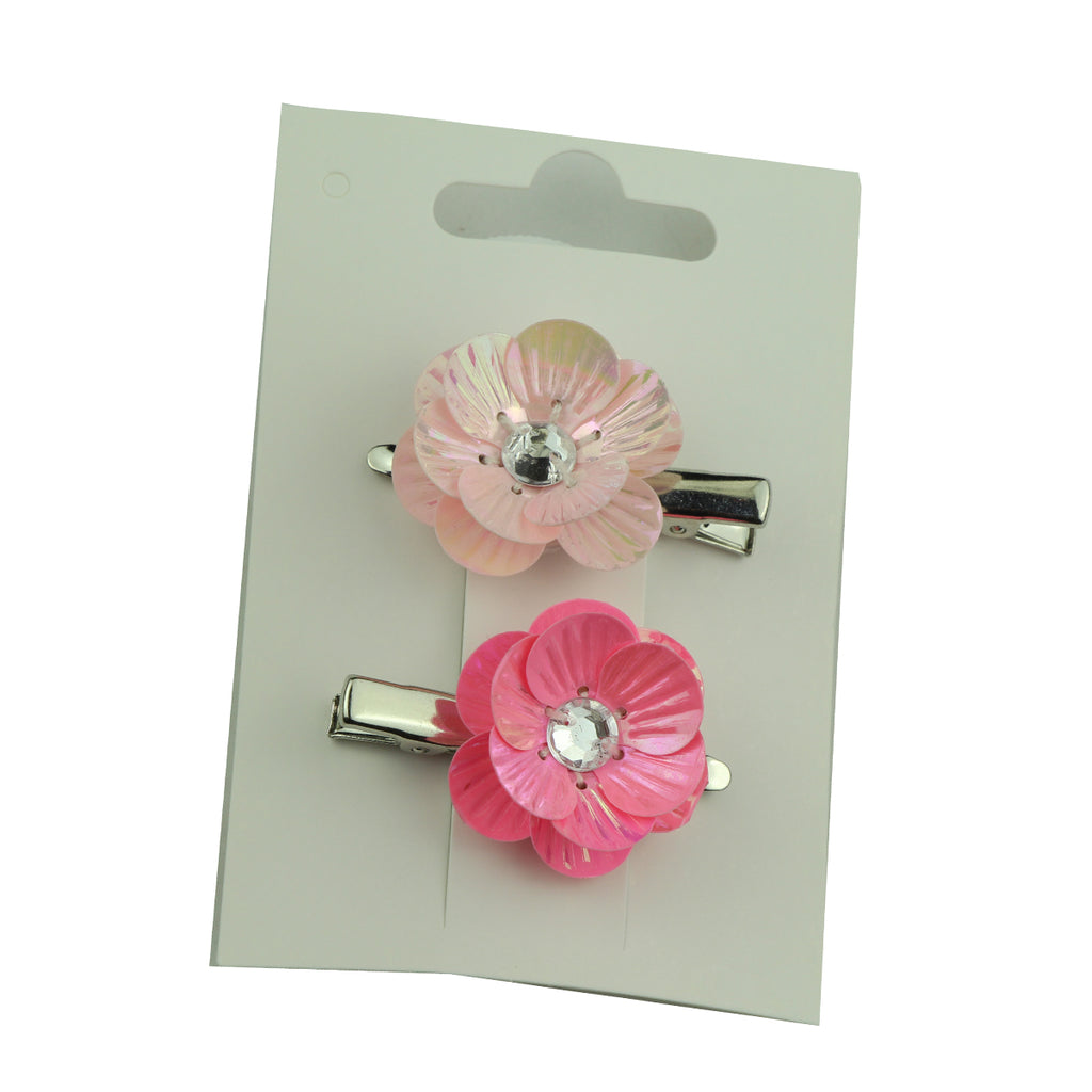 orange plastic flower pedal crystal diamond silver alligator baby girl hair clip6133 - SOHOBUCKS CO.,LIMITED