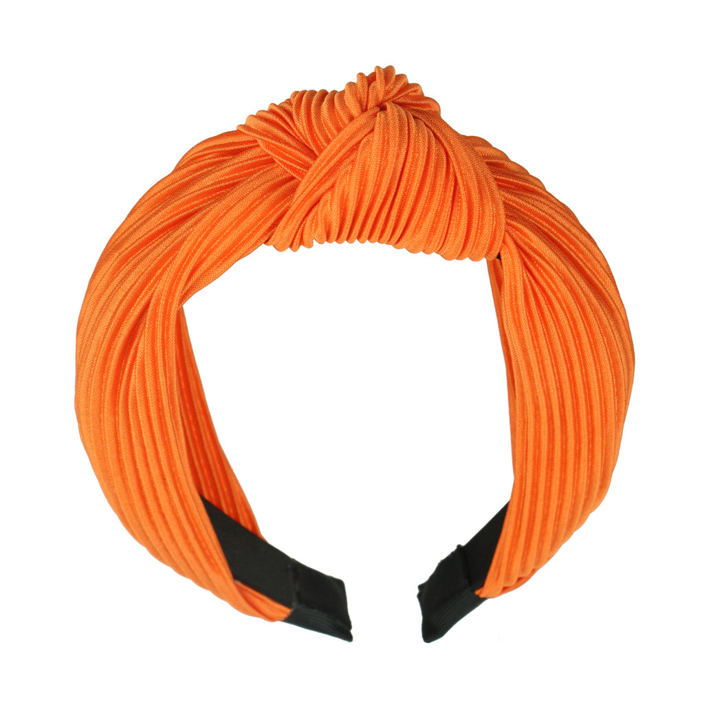 orange top knot headband,hair accessories knot headband,woman top knot headband7975 - SOHOBUCKS CO.,LIMITED