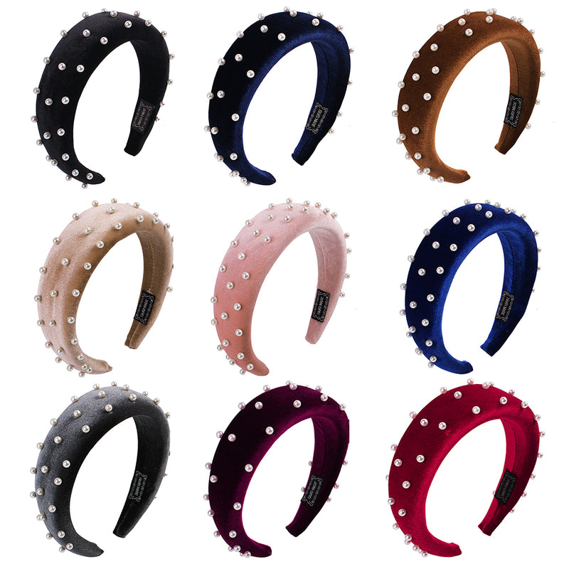 pearls hairband velvet assorted color