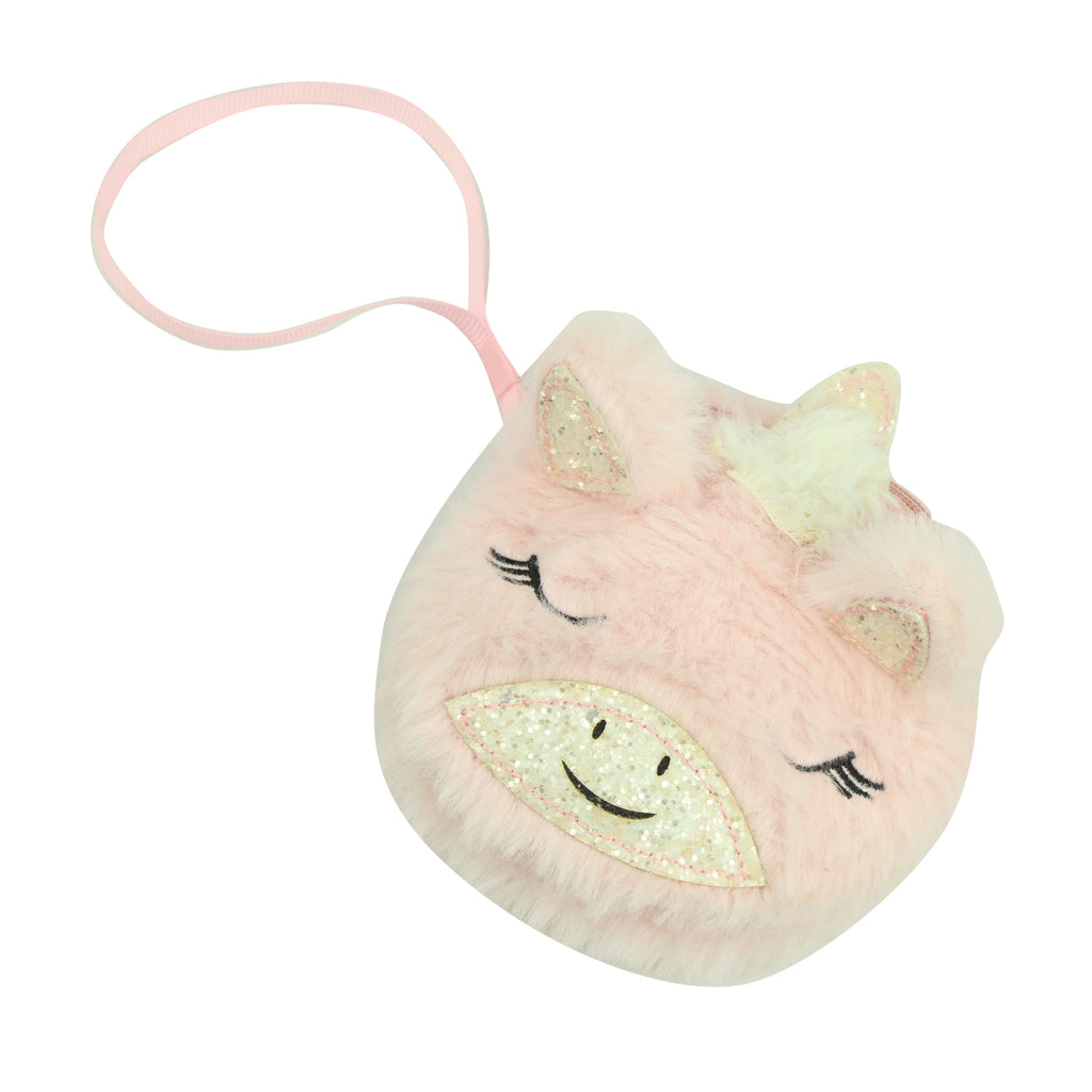 pink fluffy unicorn horn coin purse bag,key ring coin purse,fashion kids cute zipper coin purse8005 - SOHOBUCKS CO.,LIMITED