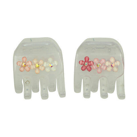 plastic Hair Claw Clips Plastic Hair Claws Pins Clamps with a Box Small Hair Jaw Clips for Girls8189