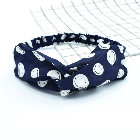 polka dot bandana head wrap,smile face custom print square head wrap88059