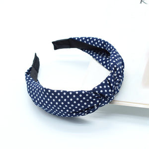 polka dots hair headband for teen girls,Solid Colors Cross Hair Band For Women Top Knotted Headbands Vintage Wide Hair Hoop Hair Accessories Headwear 88064