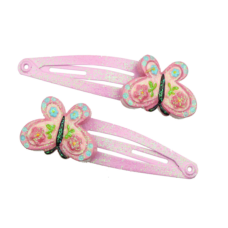 poly resin butterfly hair clips poly resin hair clip baby girl7739