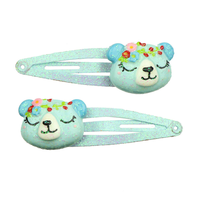 poly resin figures animal 3D hair accessory clip set wholesale at factory price 7722