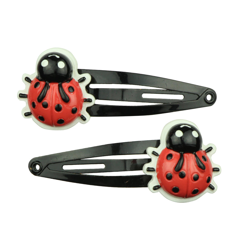 poly resin insects coccinella septempunctata snap hair clip black  7711 - SOHOBUCKS CO.,LIMITED