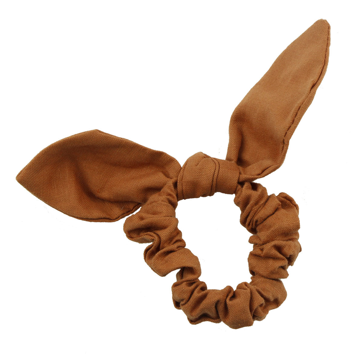 private label custom fabric linen bow hair scrunchies wholesale at factory price 5569 - SOHOBUCKS CO.,LIMITED