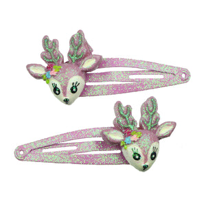 purple poly resin animal fox snap hair clip children's hair accessory set7696 - SOHOBUCKS CO.,LIMITED