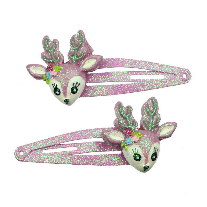 purple poly resin animal fox snap hair clip children's hair accessory set7696
