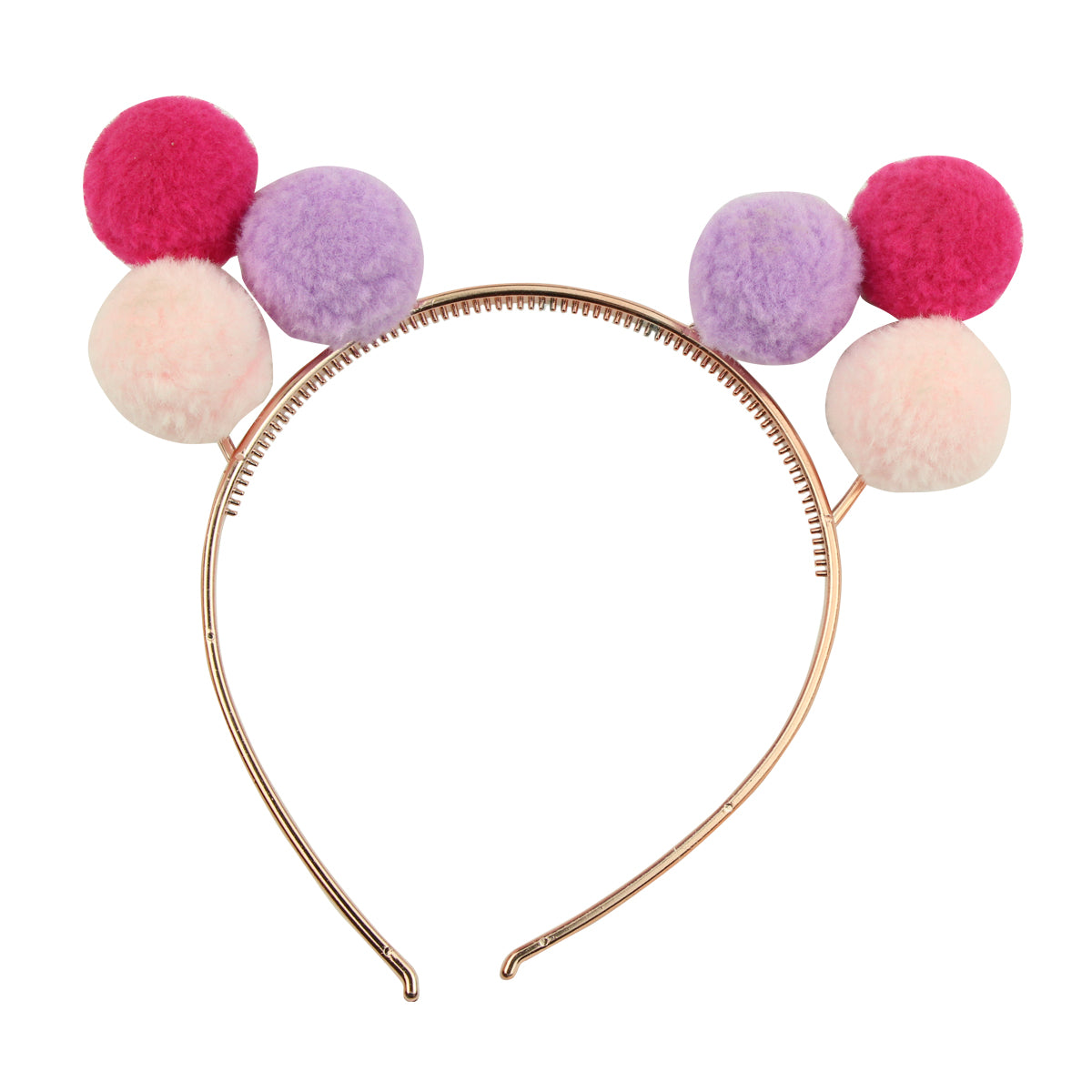 red purple peach plush pom pom jersey ball hairband plastic cat ears headband for teenage girls6056 - SOHOBUCKS CO.,LIMITED