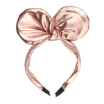 rose gold faux suede leather knot bow hairband  sparkly  mickey mouse ears headband women alice headband 6521