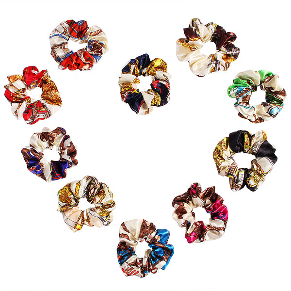 silk hair scrunchies assorted color