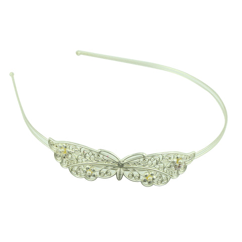 silver metal vintage hair accessory metallic butterfly with pears fashion fancy quality hairband headband made in Dongguan6880 - SOHOBUCKS CO.,LIMITED