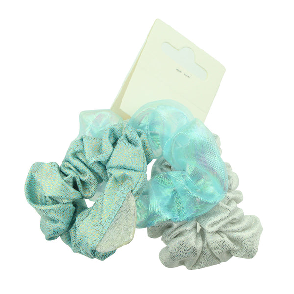 snake skin faux suede leather holographic scrunchies girl ponytail hair holder 3packs 6602 - SOHOBUCKS CO.,LIMITED